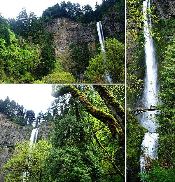 Водопад Мултномах - второй по высоте в США