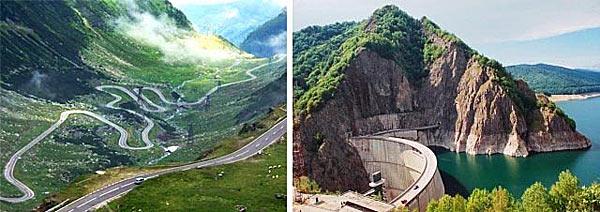 Дорога к вершине горы Barajul Vidraru