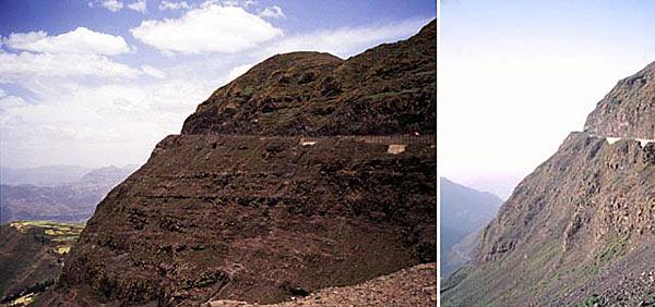 Опасные горные дороги в Эфиопии