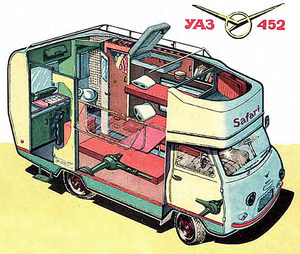 Советский автокемп УАЗ-452
