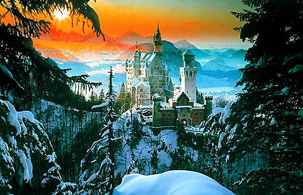 Замок Neuschwanstein. Бавария. Германия