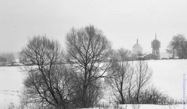 Зима в Подмосковье.