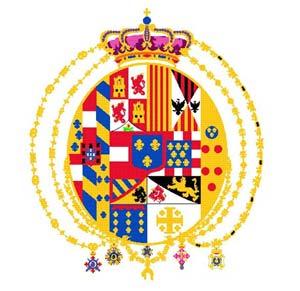 Флаг объединенного королевства Сицилия.