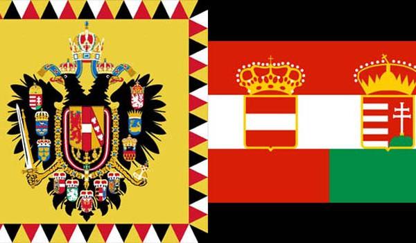 Флаг Австро-Венгерской империи.