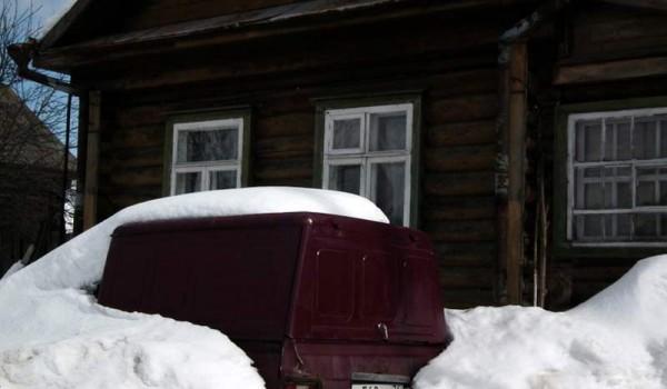 Дом, в Переславле-Залесском, в котором живут настоящие русские медведи. Зимой они спят.