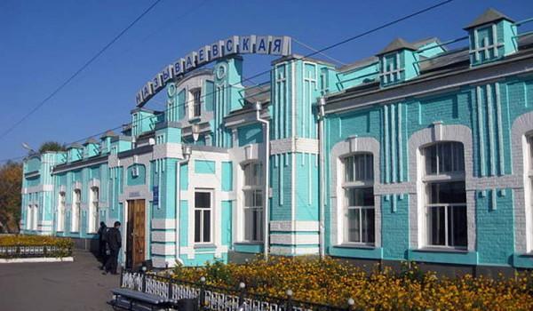 Типовая станция на Транссибе где-то между Благовещенском и Екатеринбургом. 2010 год.