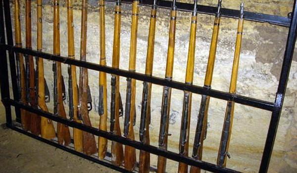 Оружейная комната в катакомбах. Одесса. 2010 год.