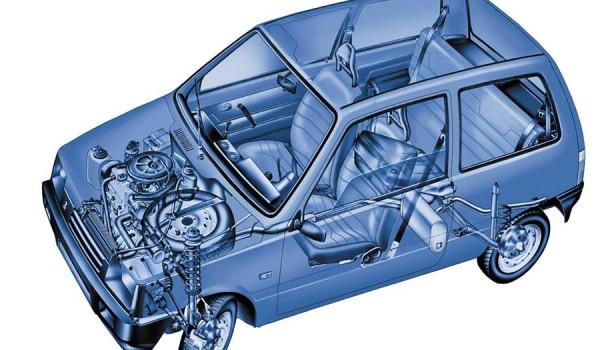 Двигатель и подвеска для ВАЗ-1111.