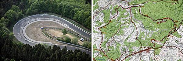 Гоночная трасса в местечке Nurburgring Nordschleife (Германия)