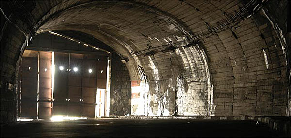 Один из многочисленных тоннелей на трассе на Фегереш