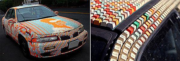 Кузов, оклеенный клавитурными клавишами - www.darkroastedblend.com