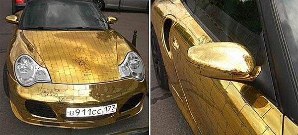 Кузов Porsche 911, украшенный 24 кг золота - www.darkroastedblend.com