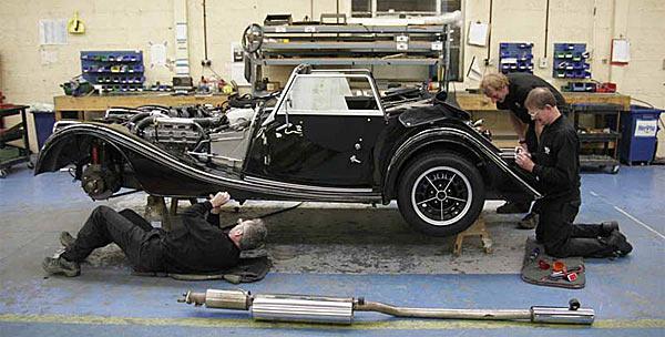 Ручная сборка автомобиля Morgan Motor