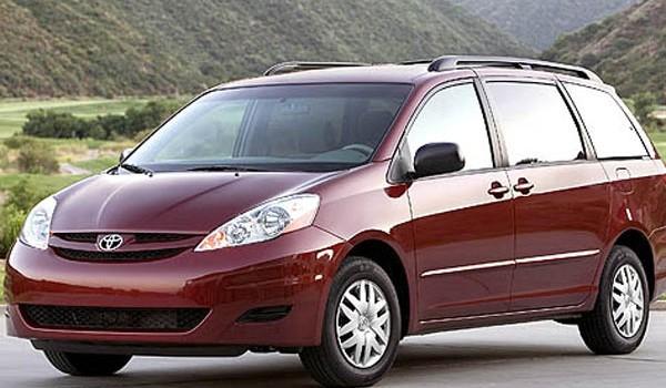 Taxi-Van - Такси минивэн Тойота Сиенна 6 пассажирских мест.  Минимальный заказ 2 часа 2000 руб.