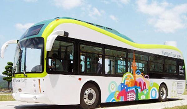 Первый южнокорейский электрический автобус