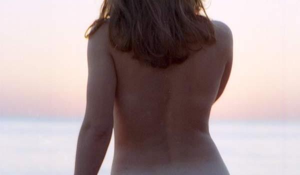 Курортное фото на фоне заката. 1997 год.