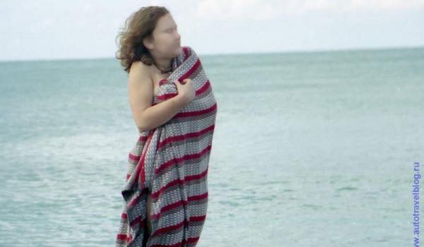 Для купания утро было слишком прохладным. 1997 год.