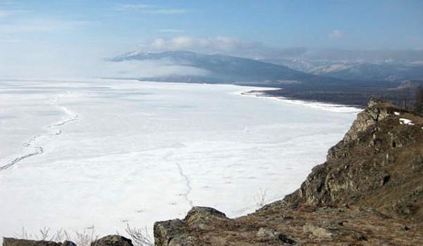 Вид на Байкал. Поселок Байкальское. 2010 год.