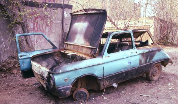 Найденные останки ЗАЗ-968.