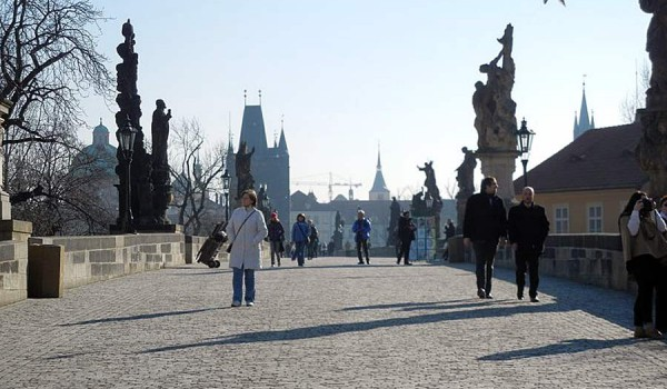 Карлов мост. Прага. Март 2011 года.