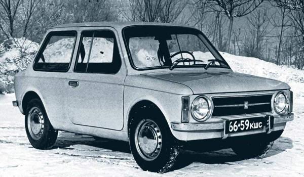 Экспериментальный переднеприводный ВАЗ-2Э 1101, 1973 год.