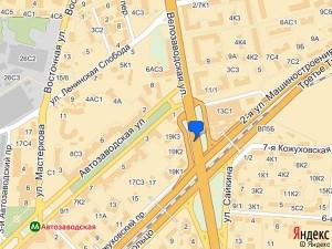 Компания Delux-Auto на карте Москвы.