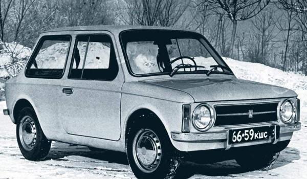 Прототип первой серии экспериментальной микролитражки ВАЗ-Э1101. 1972 год.