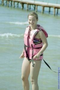 Катание на аквациклах. Анапа. 1997 год.